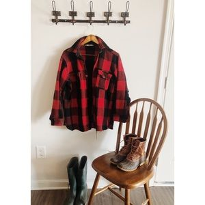 Woolrich Buffalo Check Distressed Jacket